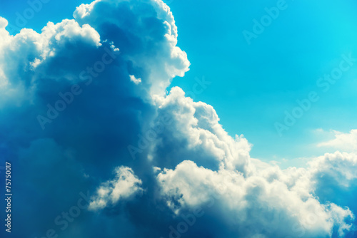 Canvas Prints Heaven Blue clouds and sky