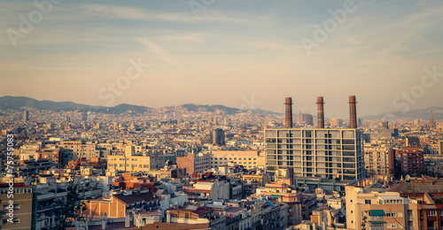 View on Bacelona Canvas Print