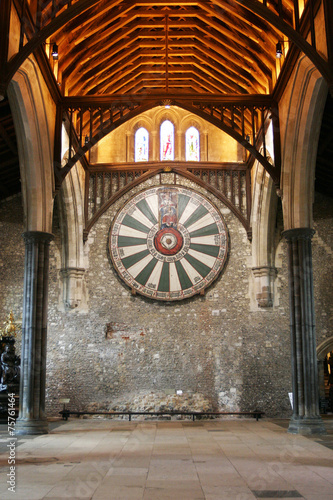 King Arthur's round table on temple wall in Winchester England U Wallpaper Mural