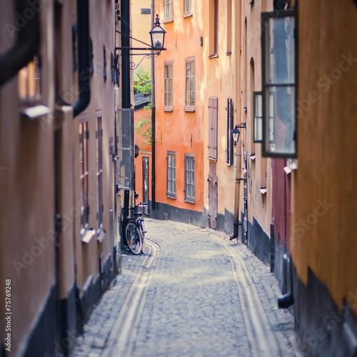 In de dag Stockholm Beautiful view of Stockholm Old Town, Gamla Stan, Sweden