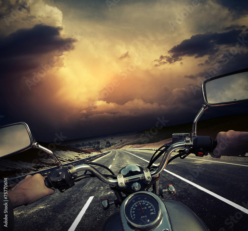 Motorcycle Canvas Print