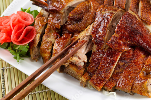 Roasted Duck Asian Style Wallpaper Mural