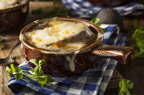 Fototapeta Homemade French Onion Soup obraz