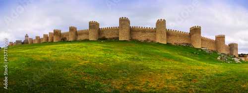 Panorama of medieval town walls Canvas