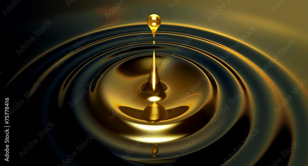 Fototapety, obrazy: Oil Droplet