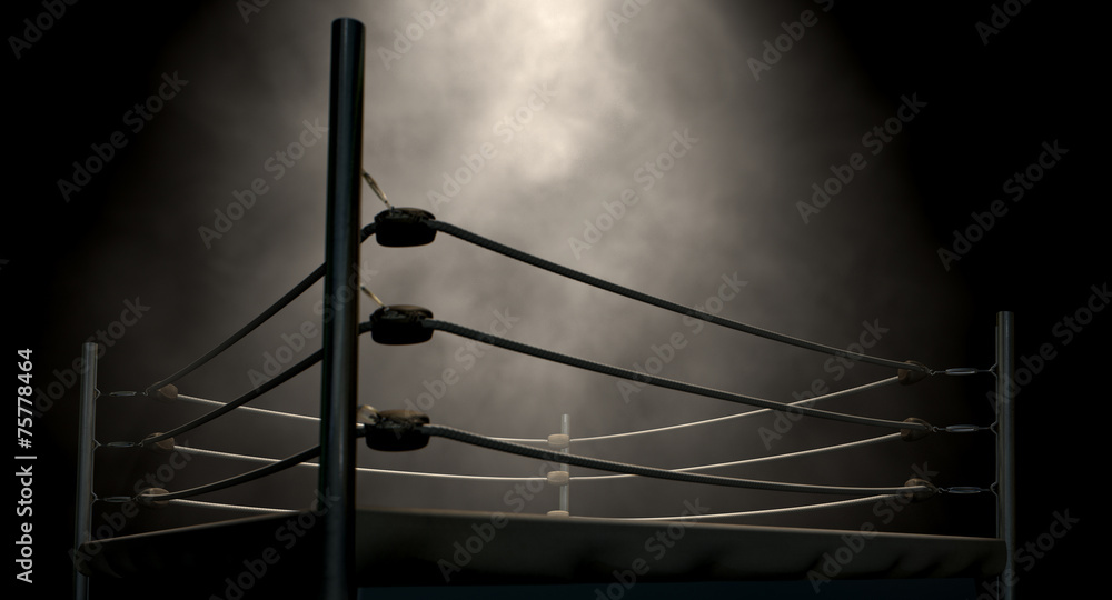 Fototapety, obrazy: Classic Vintage Boxing Ring