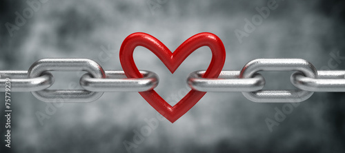Photo Chain with heart