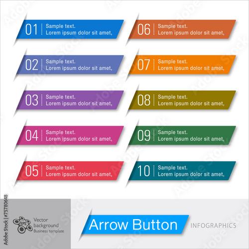 Infographic Vector Arrow Button Wallpaper Mural