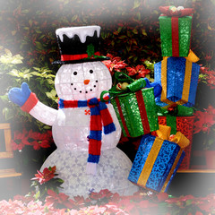 Snowman and Gift Boxes.