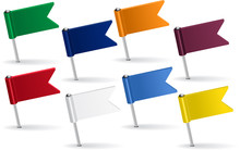 Set Of Pin Icon Flags. Vector ...