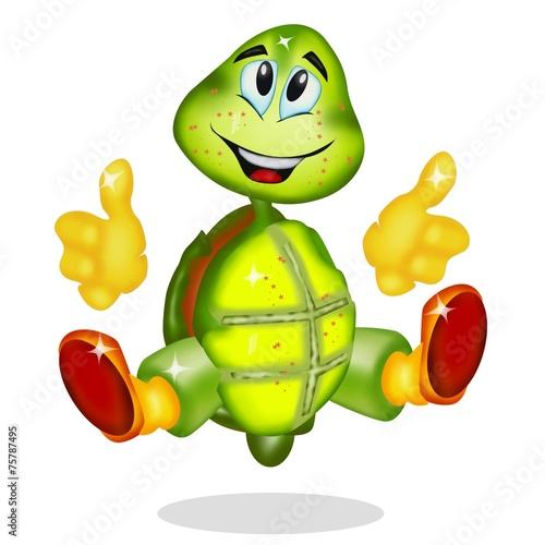 Obraz na plátně  tartaruga cartoon