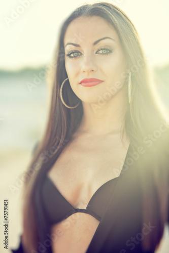 Poster Akt portrait of beautiful woman