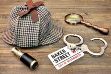 Detective Hat, Spyglass And Ma...