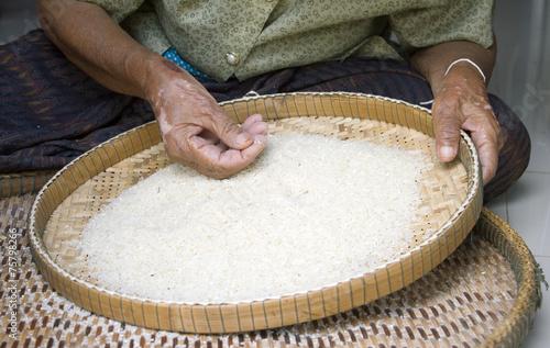 winnow rice Slika na platnu