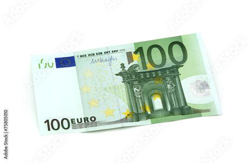Fotografía  100 Euro Vorderseite