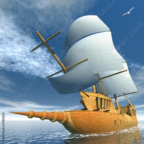 Old ship - 3D render - 75805252