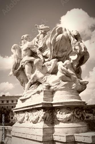 Retro Rome monument  - sepia tone - 75810611