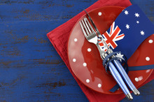 Happy Australia Day Theme Table Setting
