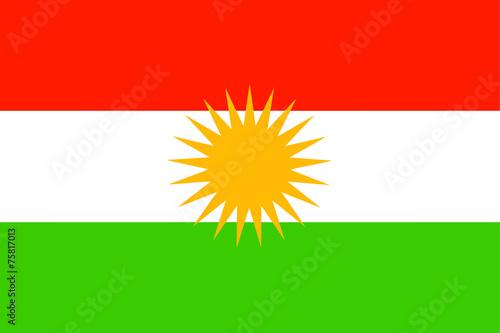 Cuadros en Lienzo  Ala Kurdistan kurdische Flagge