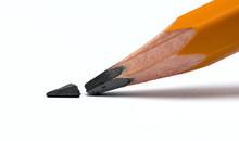 Broken Head Of Sharp Pencil On...