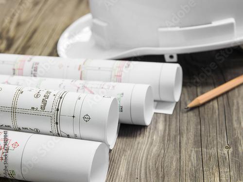 Obraz na płótnie Architectural blueprint of office building