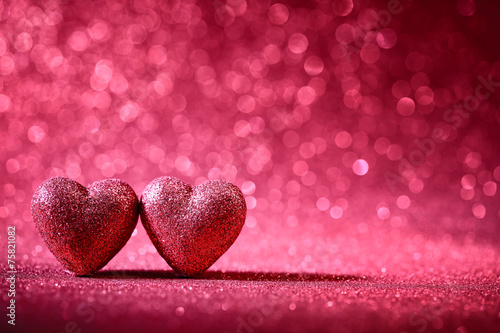 Fotografie, Obraz  Valentine Hearts
