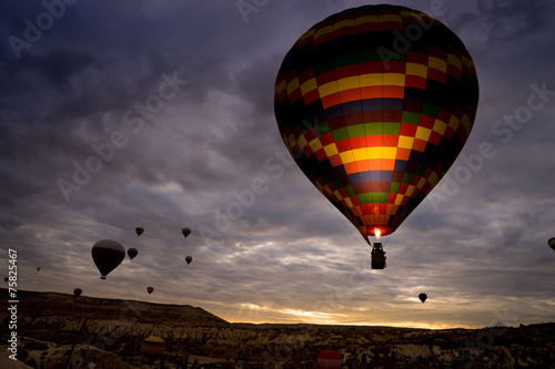 Tuinposter Ballon Hot air balloon, Cappadocia Turkey