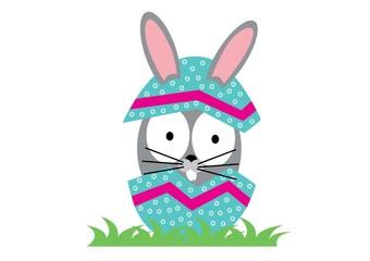 królik,pisanka Wielkanoc