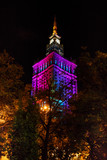 Warsaw Palace of Culture and Science at nighttime - 75849677