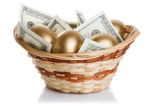 Golden Eggs And Dollars In A B...