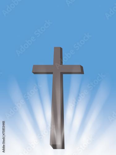 Cross Sun Light Rays Christian Symbol Of Resurrection Buy This