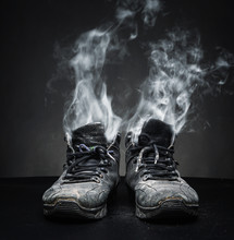 Old Work Shoes In Smoke