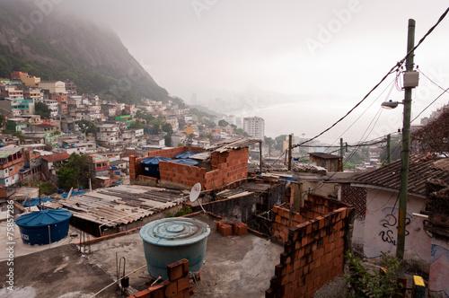 Valokuva  Fragile Residential Structures of Slum Vidigal in Rio de Janeiro