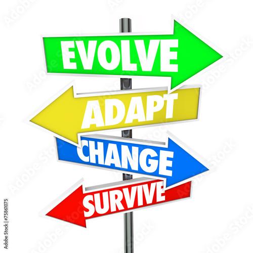 Photo Evolve Adapt Change Survive Arrow Signs Evolution Adaptation Bus