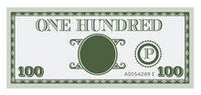 One Hundred Money Bill Image. ...