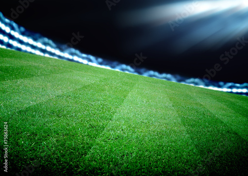 Spoed Foto op Canvas Stadion soccer field and the bright lights