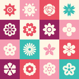 Flowers icons for logo design