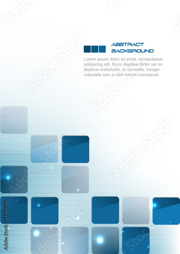 Fotografie, Obraz  Blue square abstract business background