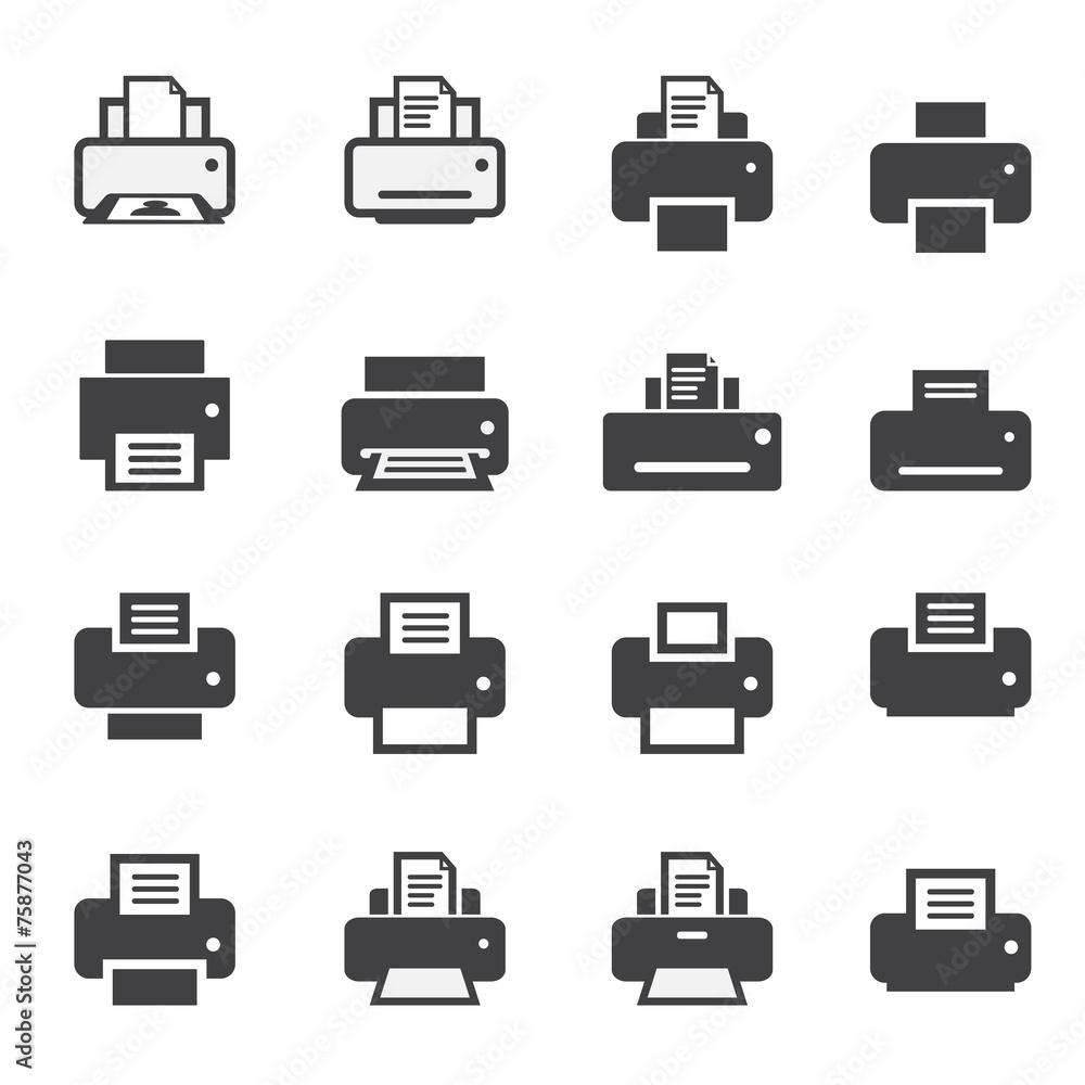 Fototapety, obrazy: print  icon set