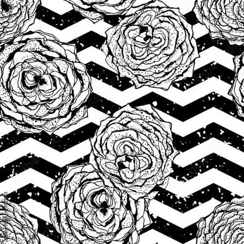 chevron-bezszwowe-recznie-rysowane-wzor-tla-z-kwiatami