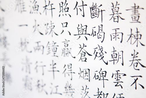 Fotografia, Obraz chinese hieroglyph