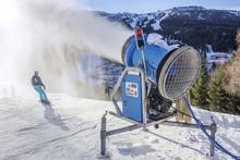 Snow Gun Makes Artifical Snow