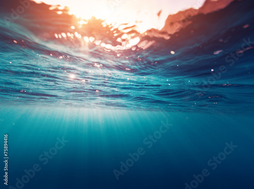 Stickers pour portes Eau Blue sea