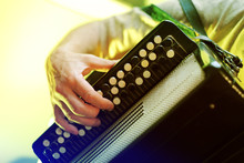 Image Of Musician Playing On A...