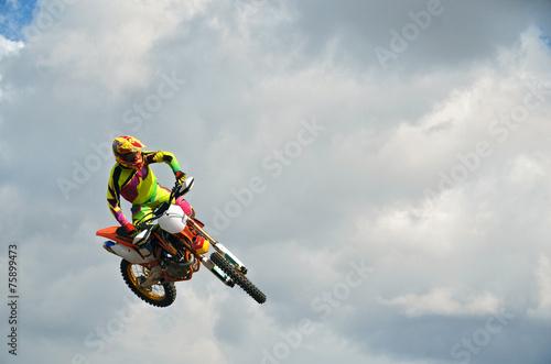 fototapeta na ścianę MX rider na motocyklu w powietrzu