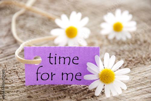 Lila Etikett Mit Time For Me Und Mageriten