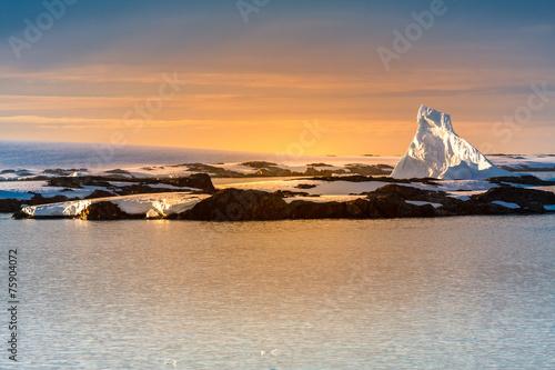 Poster Glaciers Antarctic glacier