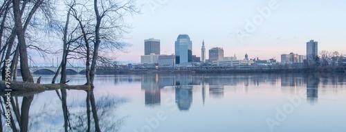 Fotografie, Obraz  springfield massachusetts city skyline early morning