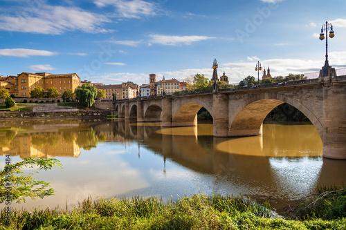 Puente De Piedra Stone Bridge In Logrono Buy This Stock Photo