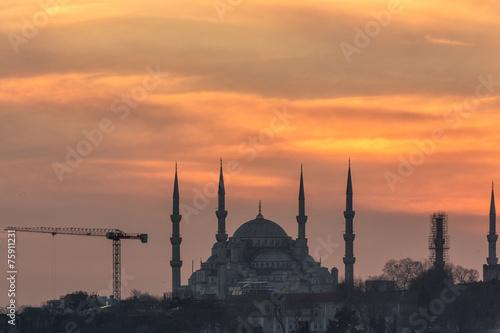 Poster Turquie Blue Mosque Istanbul, Turkey